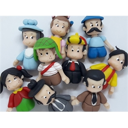 Miniaturas Turma do Chaves de Biscuit