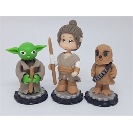 Miniaturas Star Wars Biscuit Kit com 3 Unidades